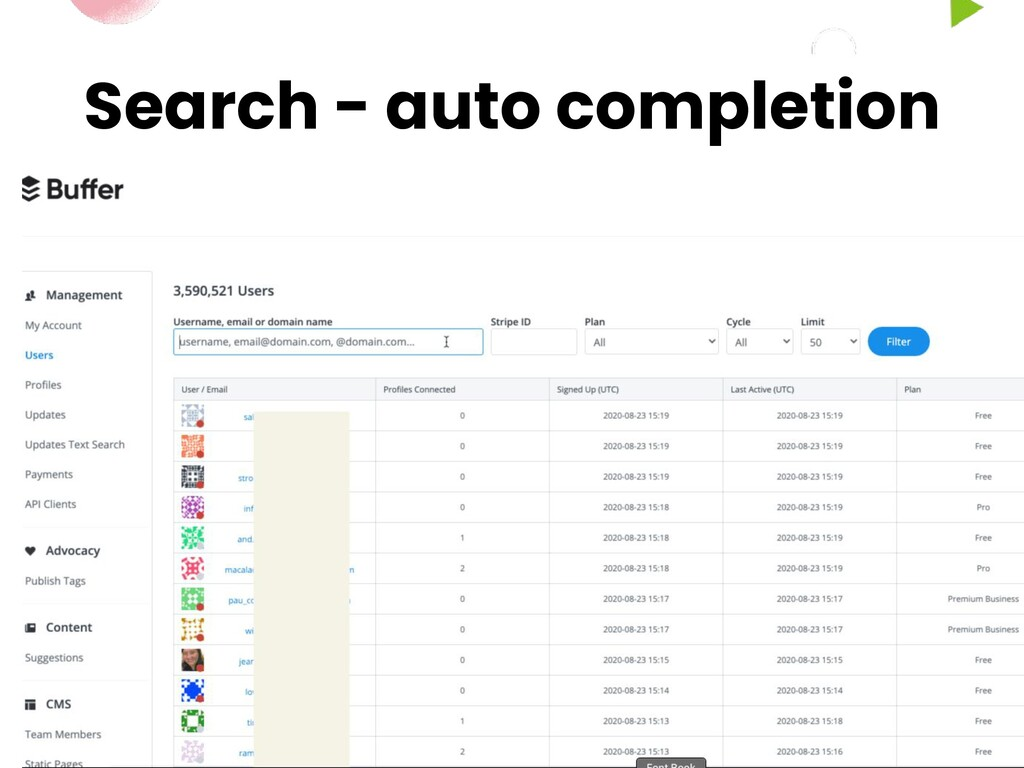 Search - auto completion