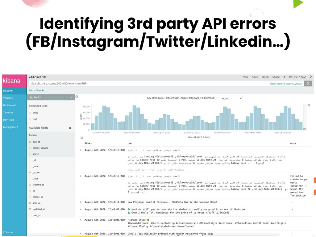 Identifying 3rd party API errors (FB/Instagram/...