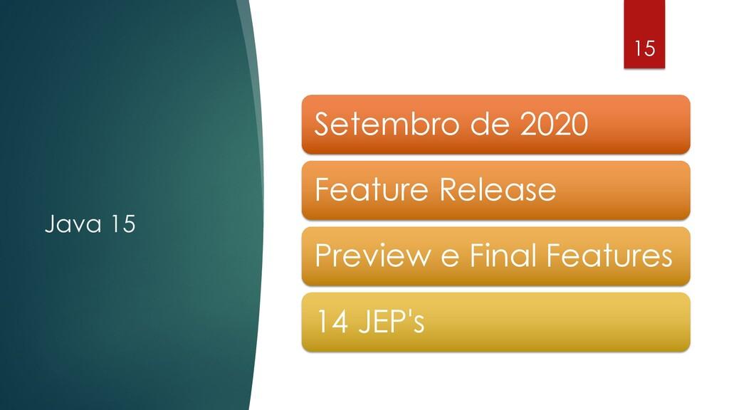 @rodrigograciano Java 15 15 Setembro de 2020 Fe...
