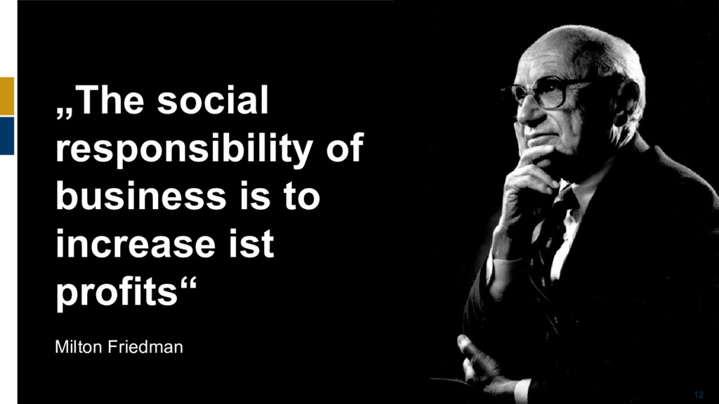 """12 """"The social responsibility of business is to..."""