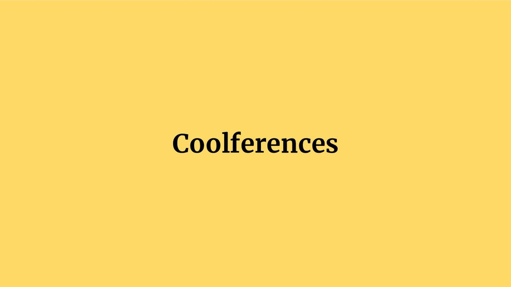 Coolferences