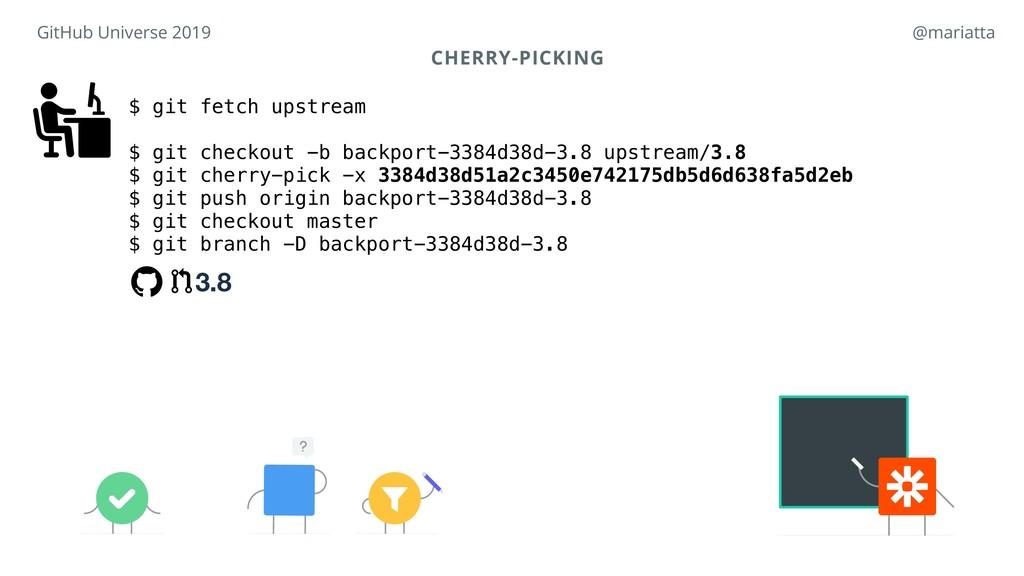 CHERRY-PICKING $ git fetch upstream $ git check...