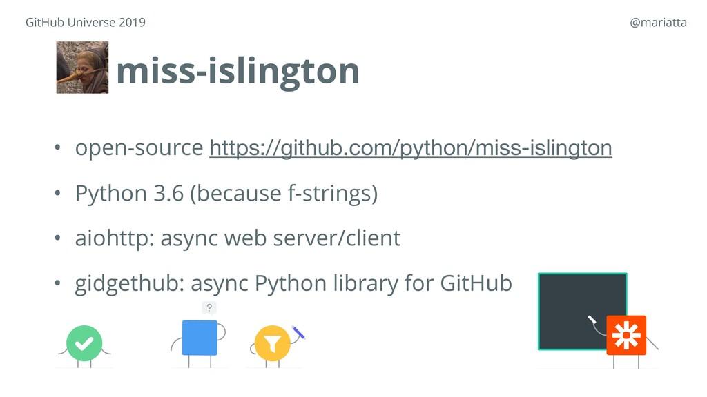 miss-islington • open-source https://github.com...
