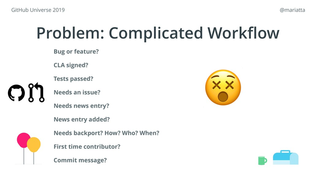 Problem: Complicated Workflow  Bug or feature? C...