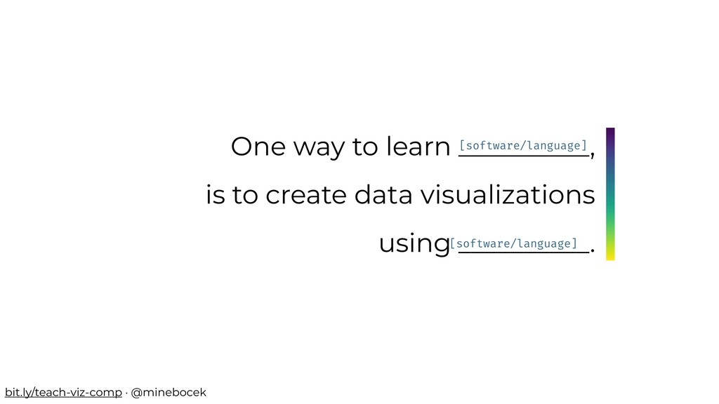 One way to learn __________, is to create data ...