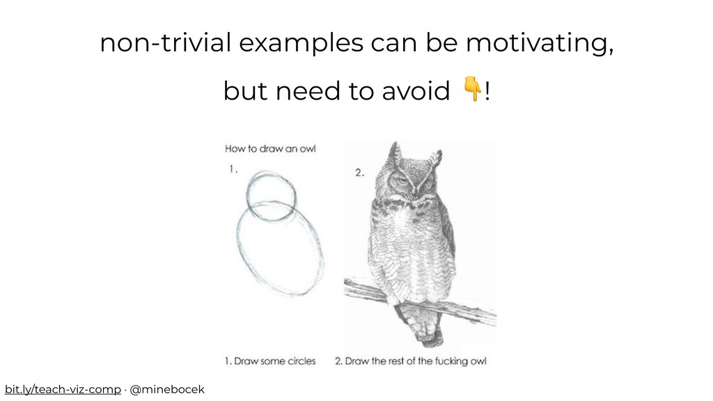 non-trivial examples can be motivating, but nee...