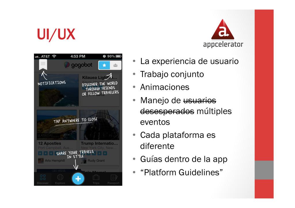 UI/UX • La experiencia de usuario • Trabajo c...