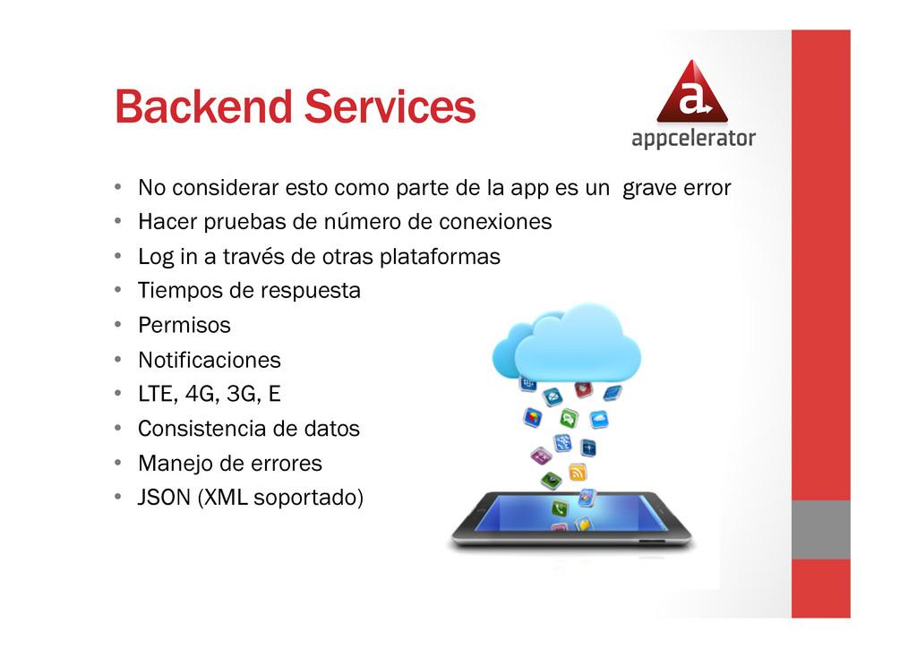 Backend Services • No considerar esto como par...