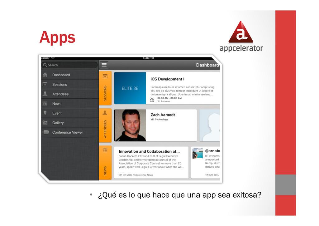Apps • ¿Qué es lo que hace que una app sea exi...