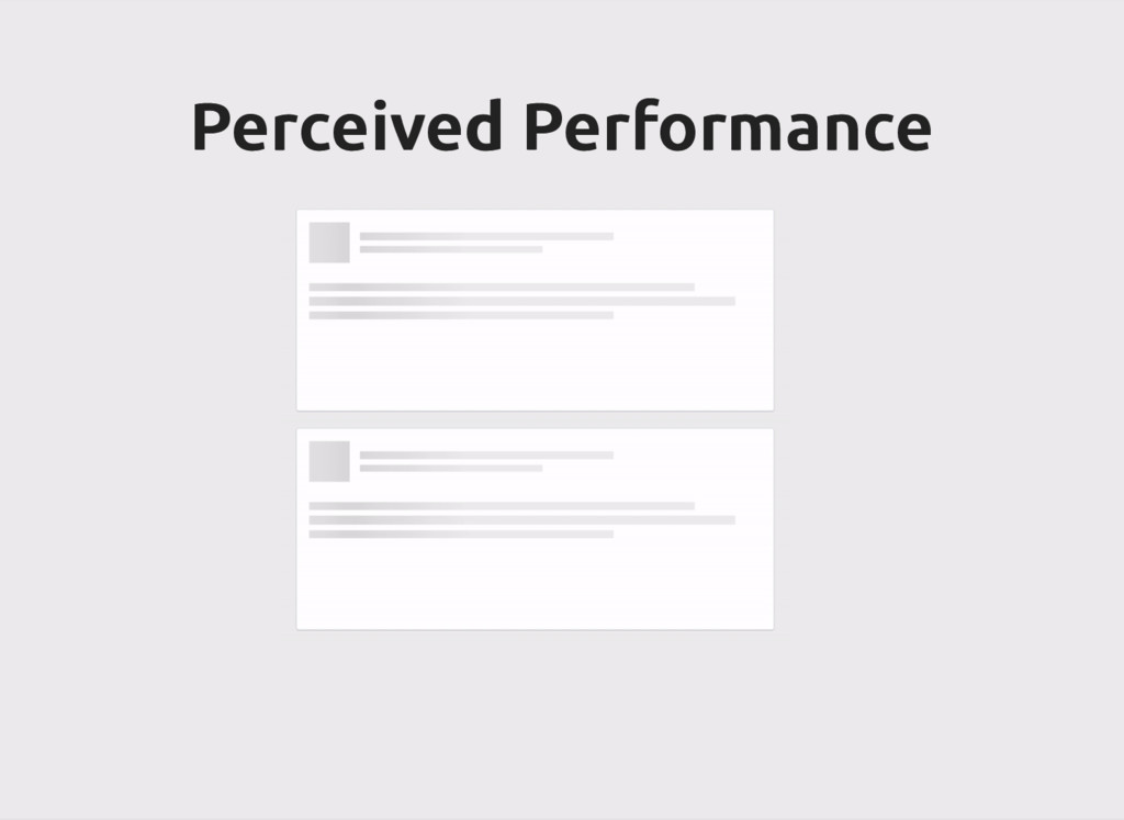 Perceived Performance Perceived Performance