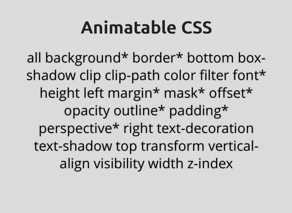 Animatable CSS Animatable CSS all background* b...
