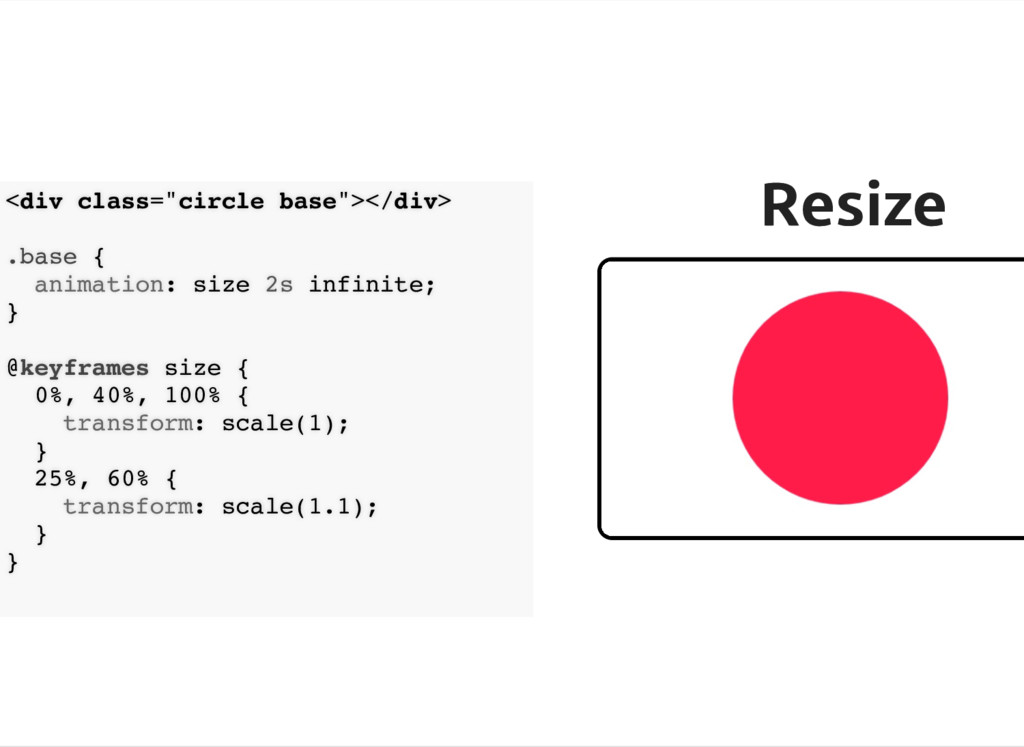 "Resize Resize <div class=""circle base""></div> ...."