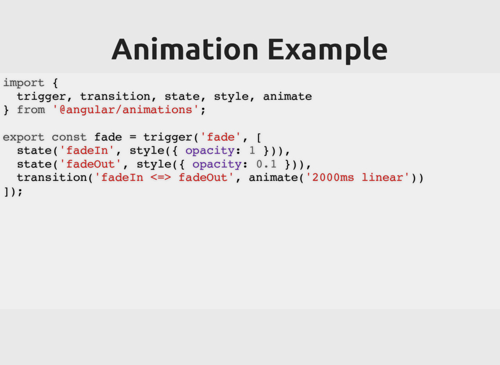 Animation Example Animation Example import { tr...