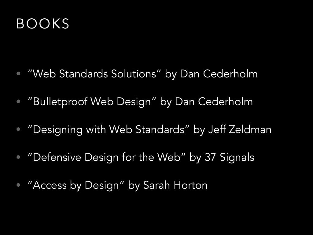 "BOOKS • ""Web Standards Solutions"" by Dan Cederh..."