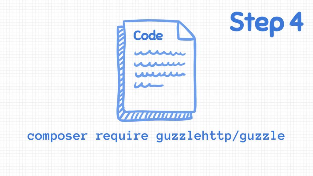 Step 4 Code composer require guzzlehttp/guzzle