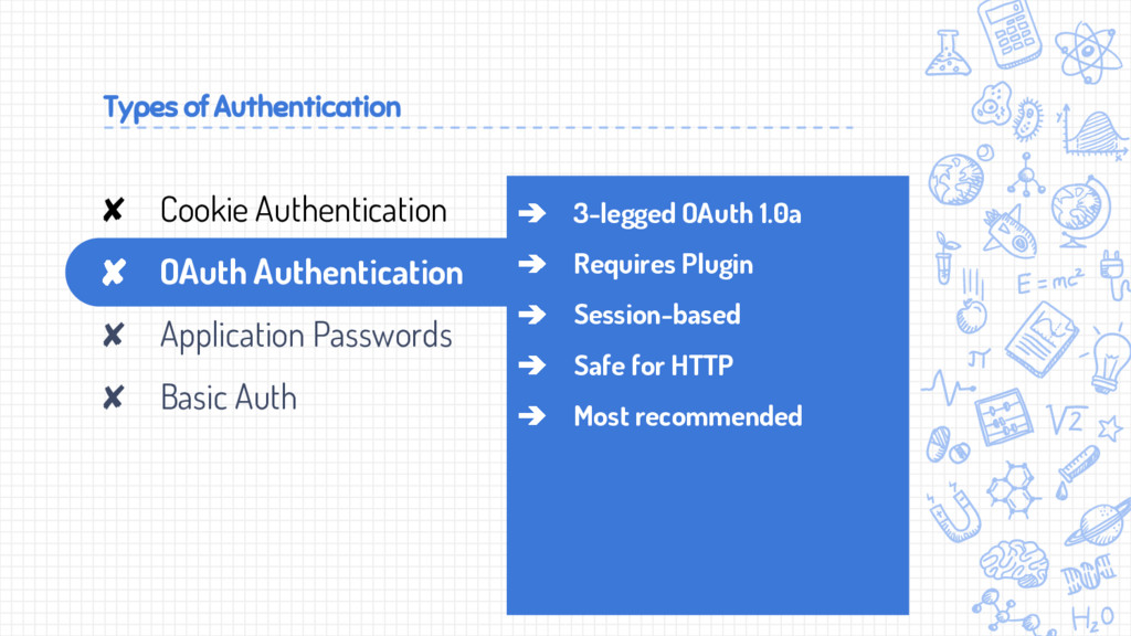 Types of Authentication ➔ 3-legged OAuth 1.0a ➔...