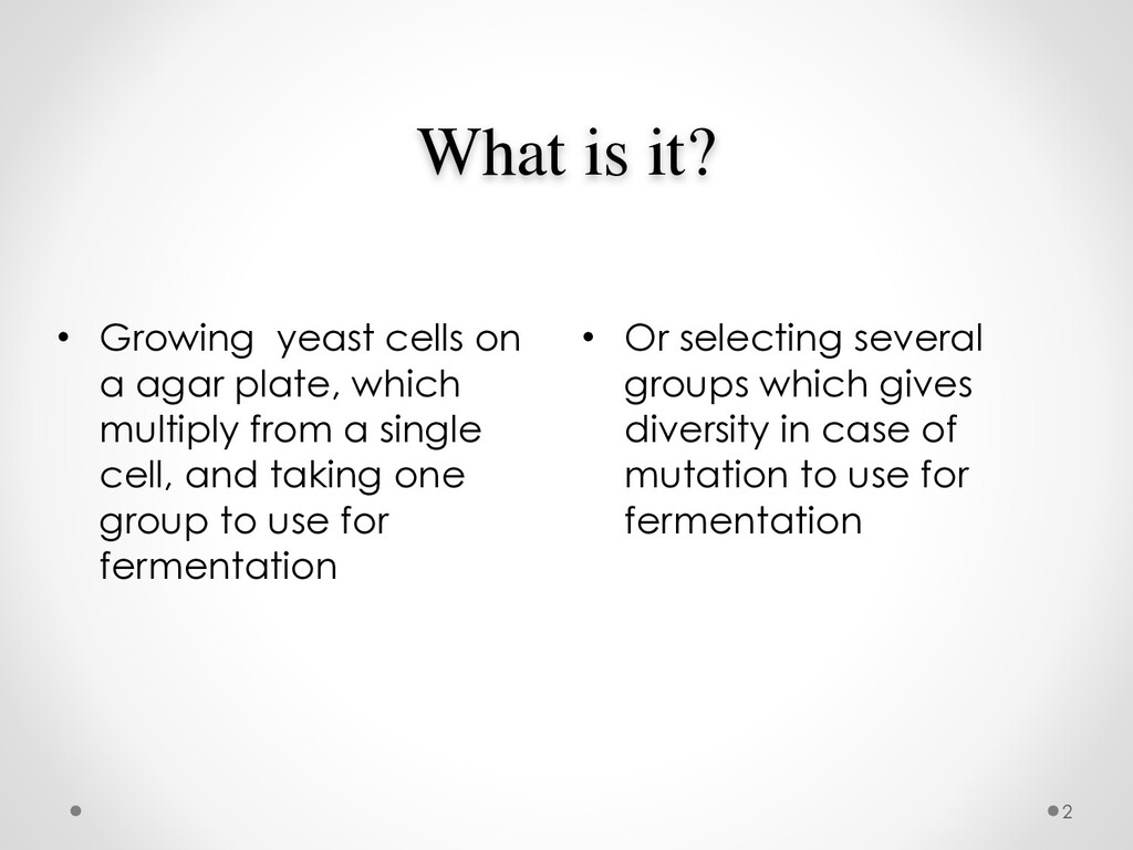 What is it? • Or selecting several groups which...