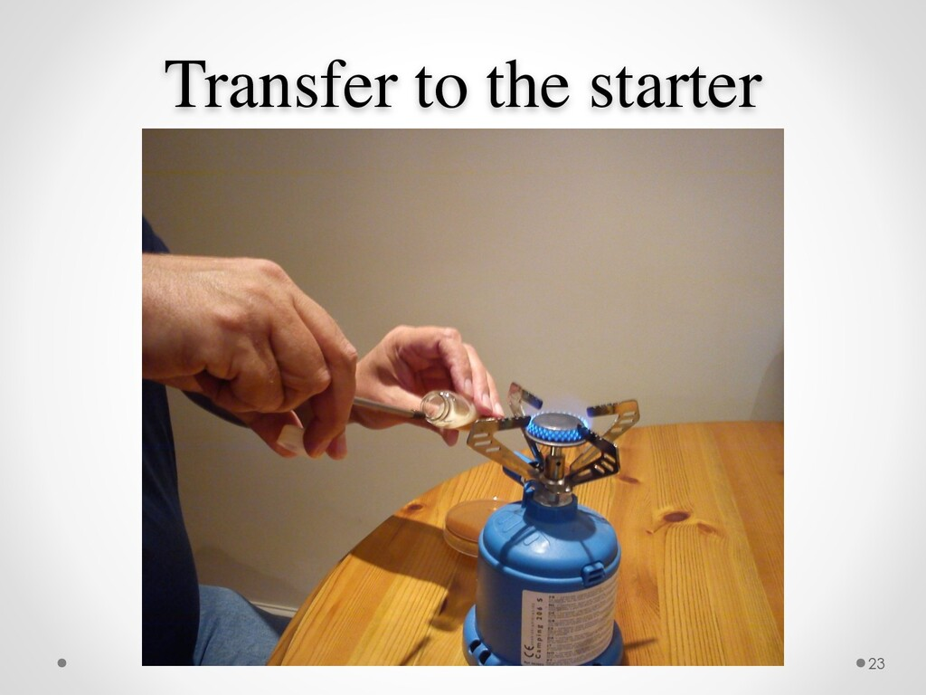 Transfer to the starter 23
