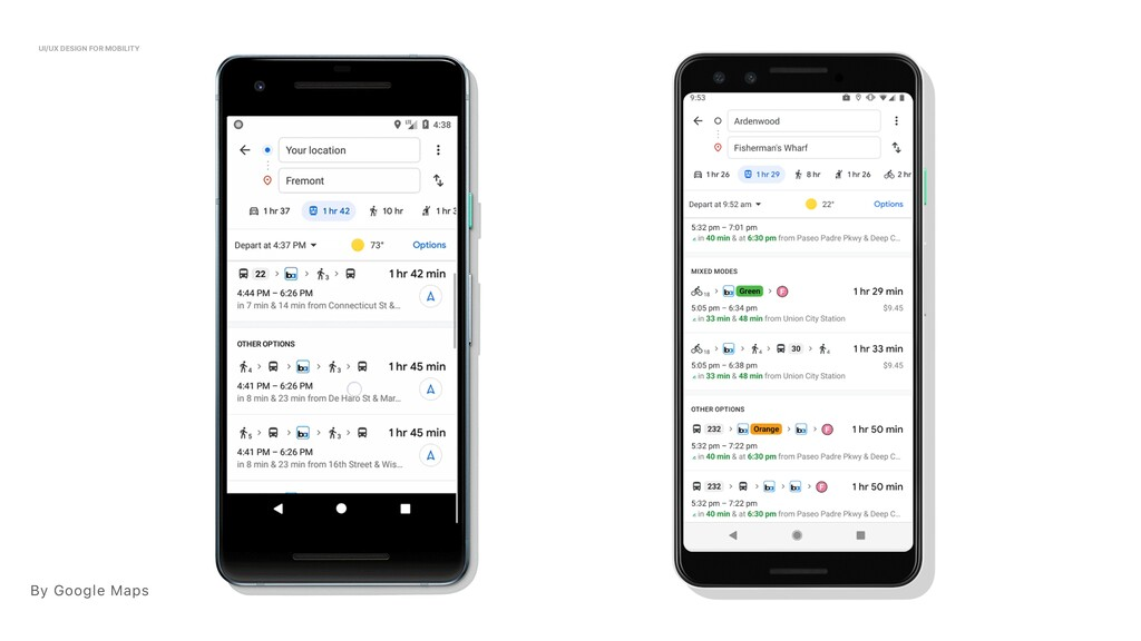By Google Maps UI/UX DESIGN FOR MOBILITY