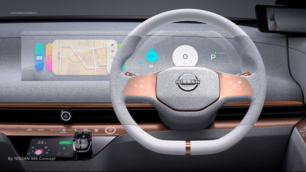 By NISSAN IMk Concept UI/UX DESIGN FOR MOBILITY