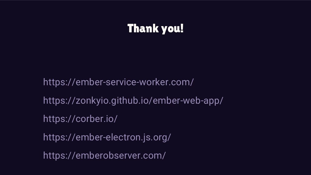 Thank you! https://ember-service-worker.com/ ht...