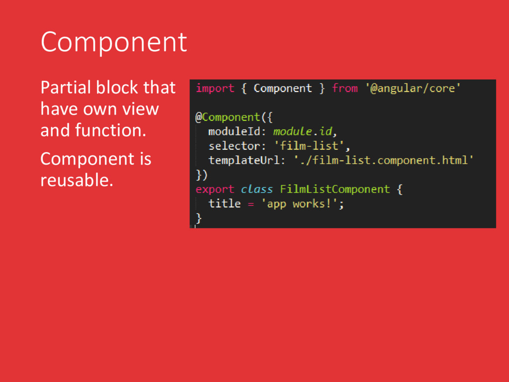 Component Partial block that have own view and ...