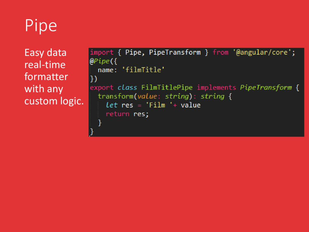 Pipe Easy data real-time formatter with any cus...