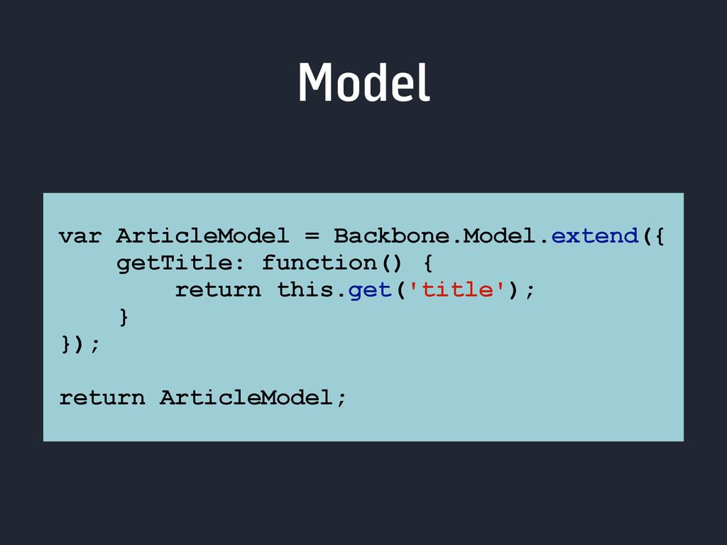 Model var ArticleModel = Backbone.Model.extend(...