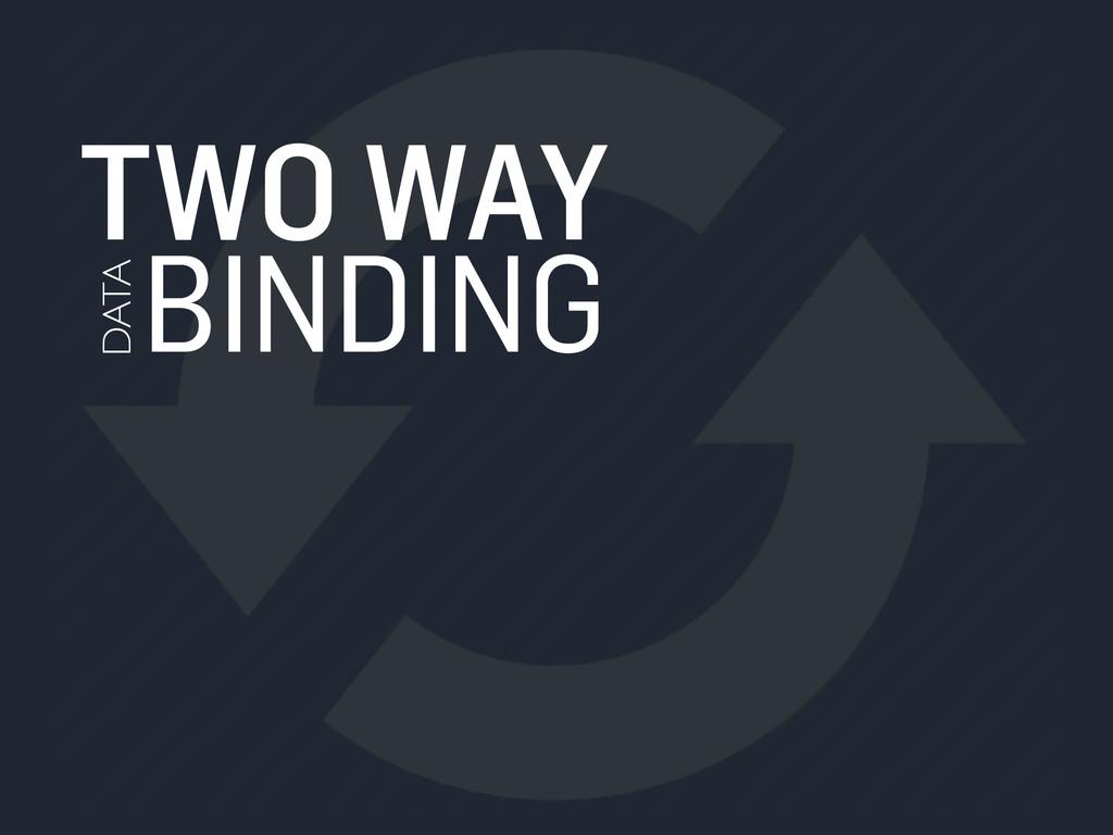 TWO WAY BINDING DATA