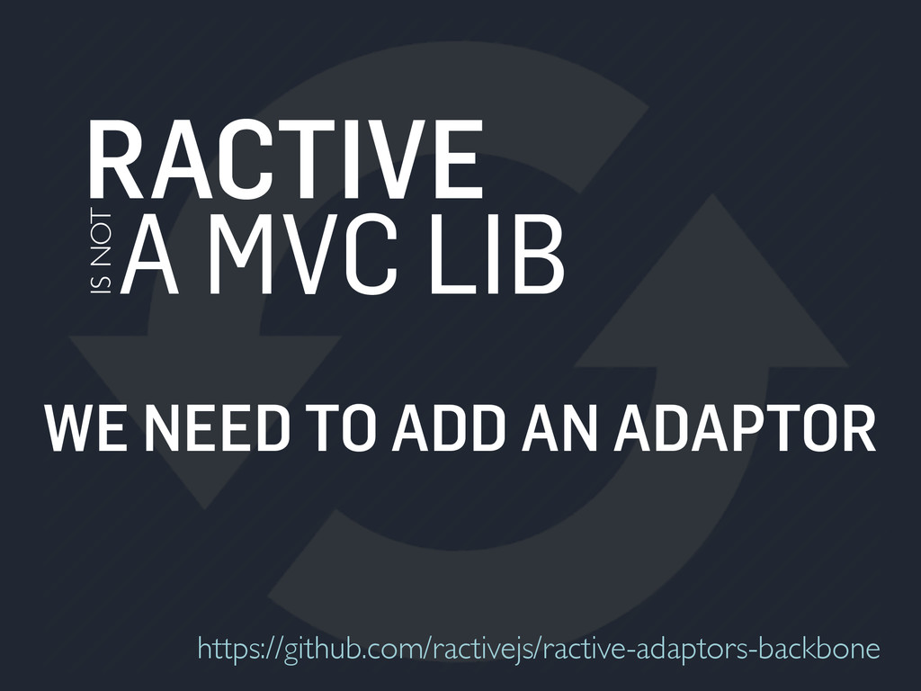 RACTIVE A MVC LIB IS NOT WE NEED TO ADD AN ADAP...