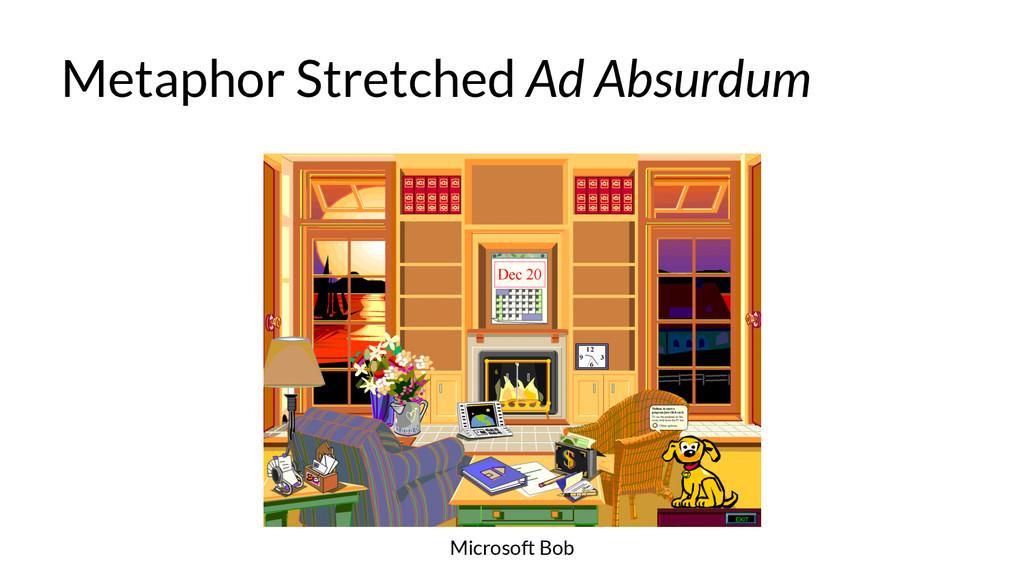 Metaphor Stretched Ad Absurdum Microsoft Bob