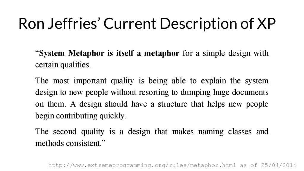 """System Metaphor is itself a metaphor for a sim..."