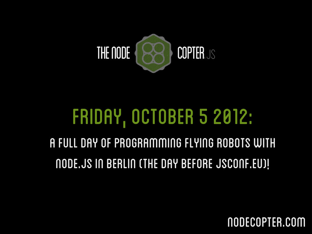 Friday, October 5 2012: A full day of programmi...
