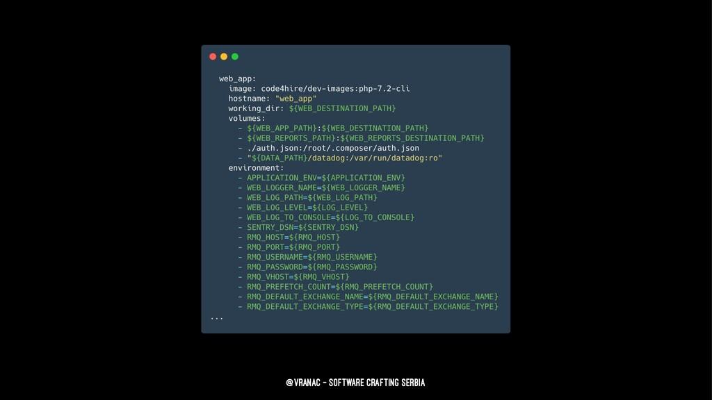 @vranac - Software Crafting Serbia