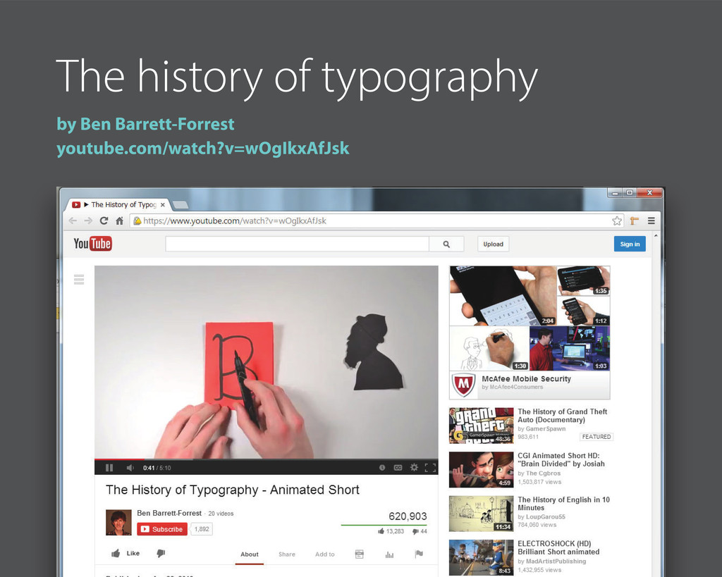 The history of typography by Ben Barrett-Forres...