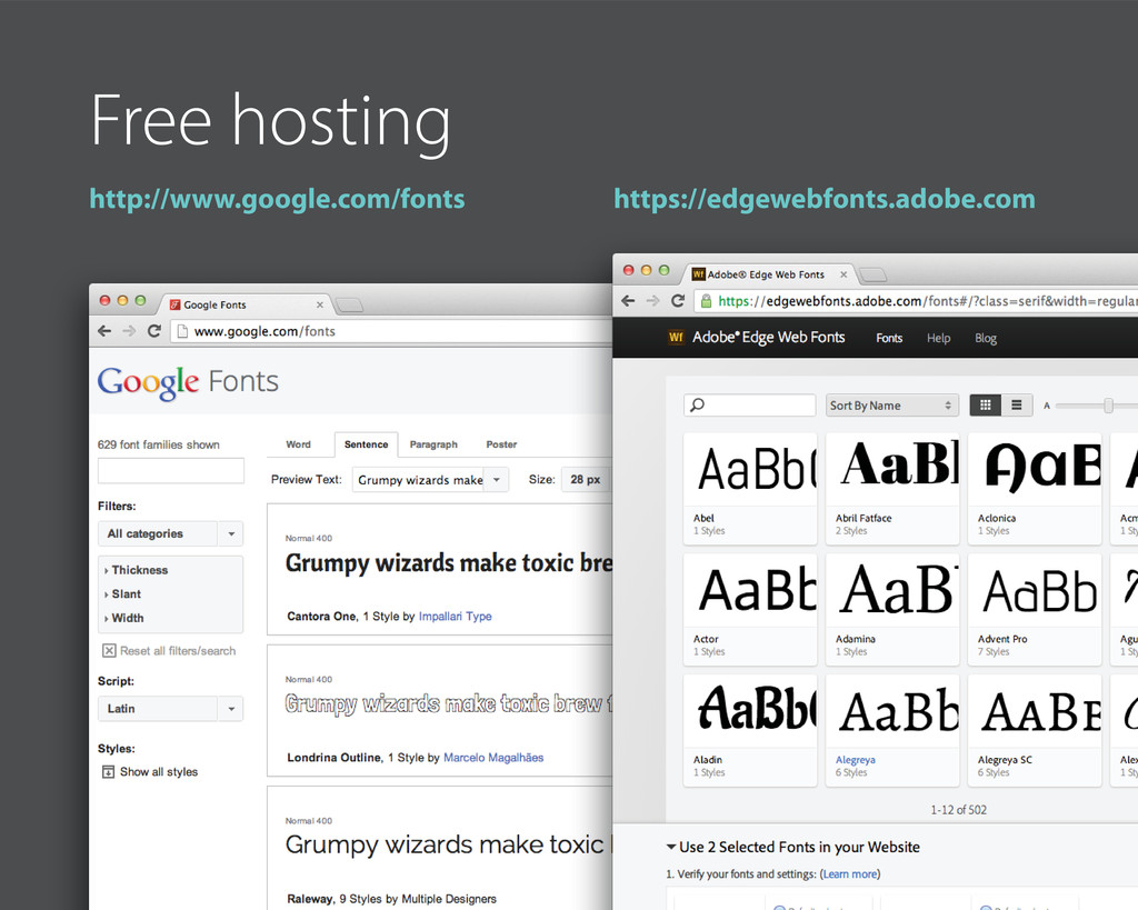 Free hosting http://www.google.com/fonts https:...