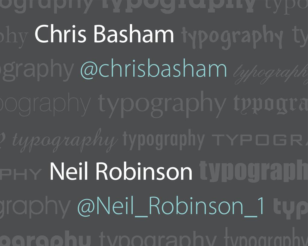 ography typography typo phy Chris Basham typogr...