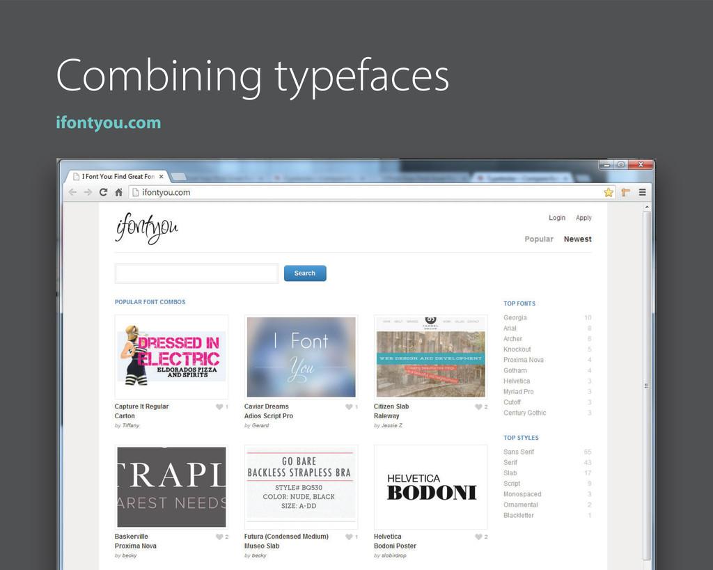 Combining typefaces ifontyou.com