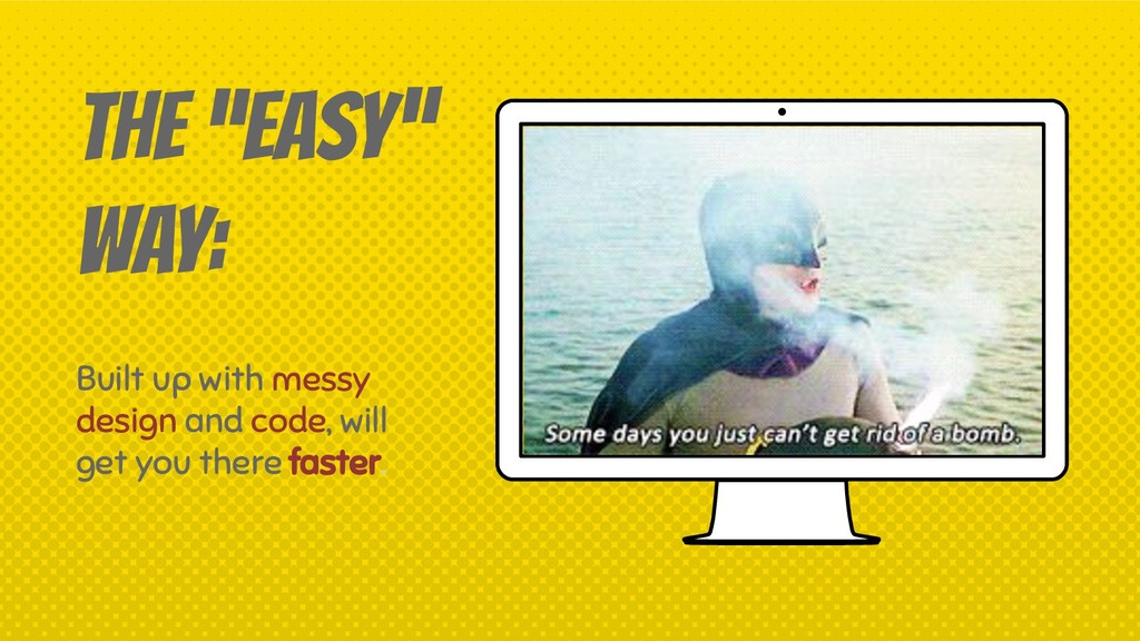 """THE """"EASY"""" WAY: Built up with messy design and ..."""