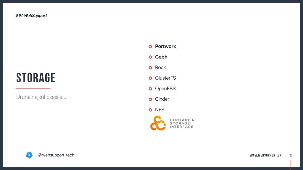 Portworx Ceph Rook GlusterFS OpenEBS Cinder NFS...