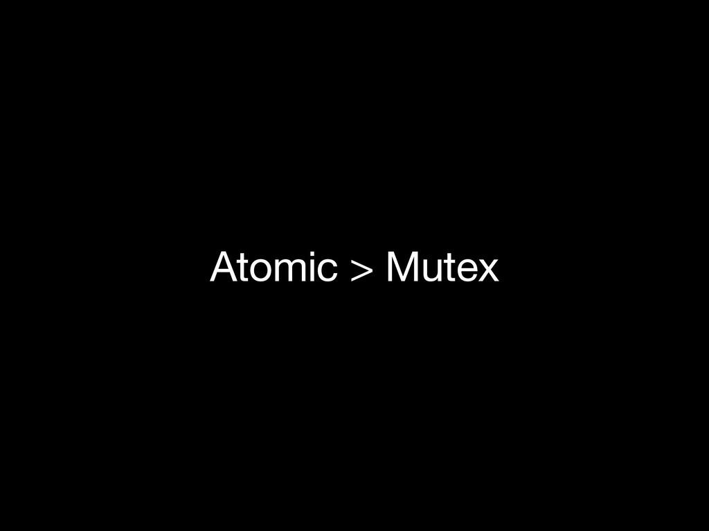 Atomic > Mutex