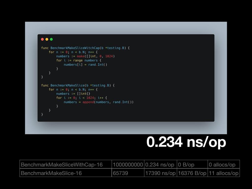 BenchmarkMakeSliceWithCap-16 1000000000 0.234 n...