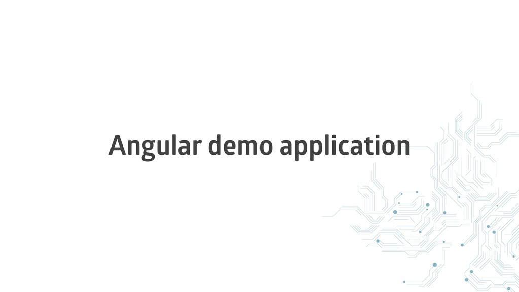 Angular demo application