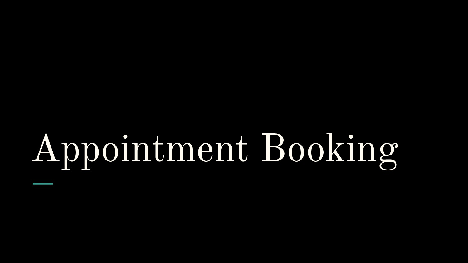 Appointment Booking