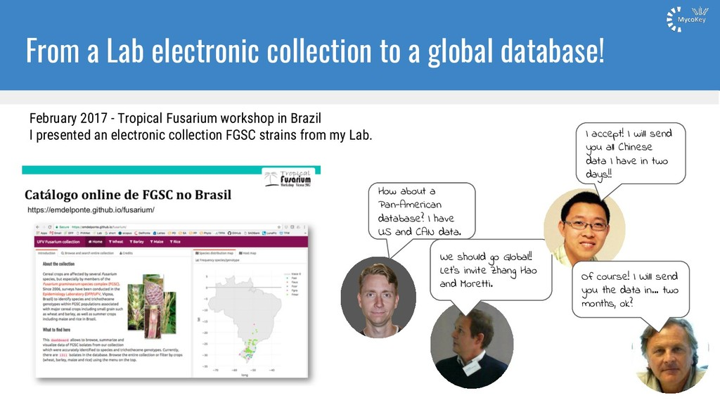 From a Lab electronic collection to a global da...