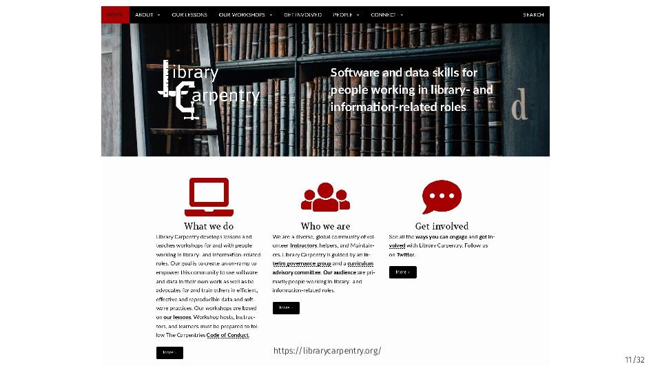 11/32 https://librarycarpentry.org/
