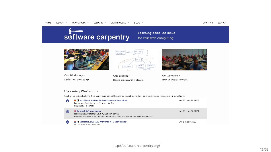13/32 http://software-carpentry.org/
