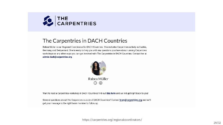 29/32 https://carpentries.org/regionalcoordinat...