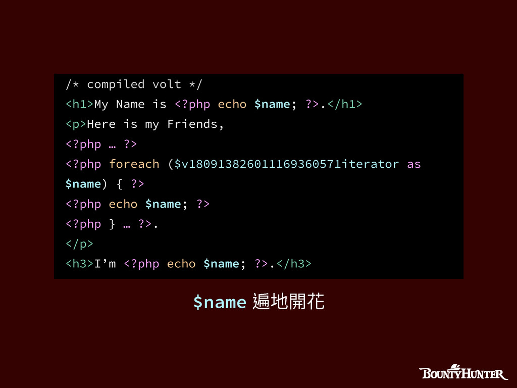 /* compiled volt */ <h1>My Name is <?php echo $...