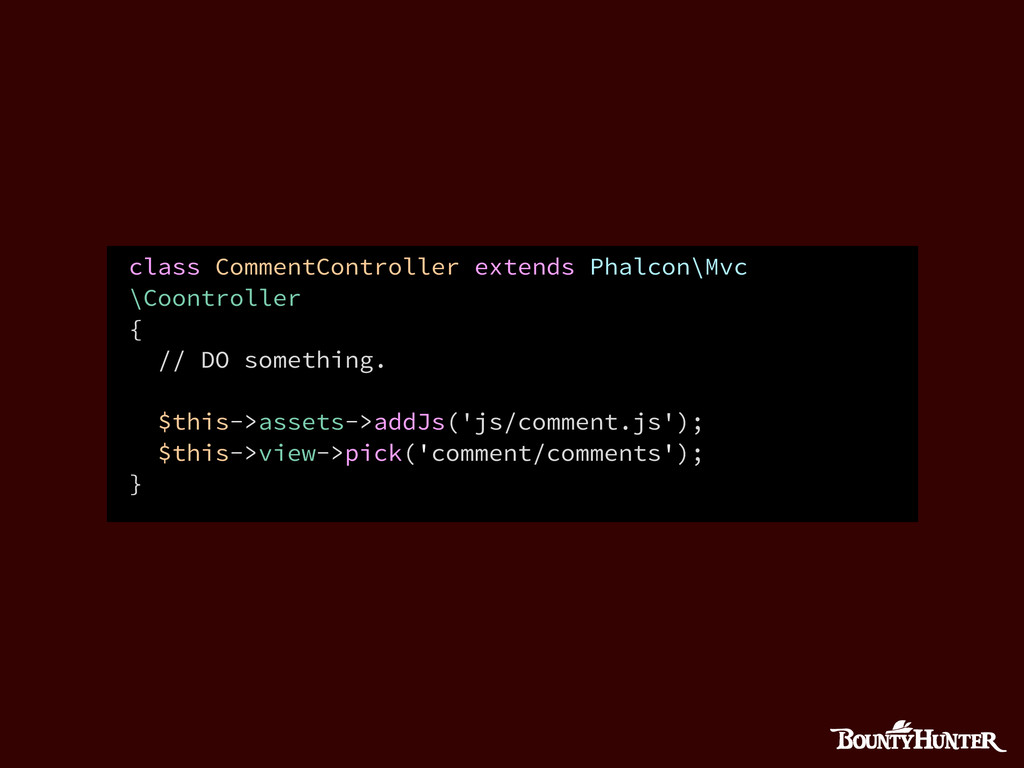 class CommentController extends Phalcon\Mvc \Co...
